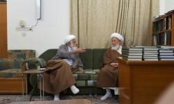 دیدار آیات عظام محمدآصف محسنی و محمداسحاق فیاض در نجف